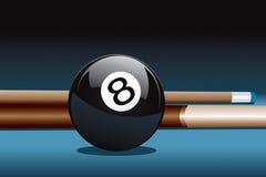 Bille 8 et bâton Photo libre de droits