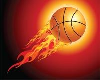 Bille ardente de basket-ball Photo stock