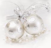 Bille argentée de Noël Image stock
