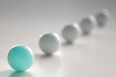 Bille bleu-clair Image libre de droits