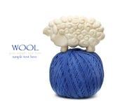 Bille bleue d'amorçage de laine Photos libres de droits