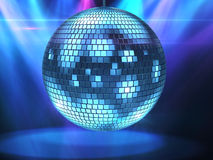 Bille bleue de disco Photographie stock