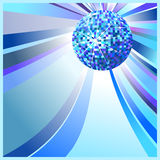 Bille bleue de disco Image libre de droits