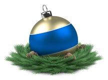 Bille bleue de Noël isloated Photographie stock libre de droits