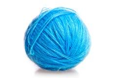 Bille bleue des amorçages de laine Photographie stock libre de droits