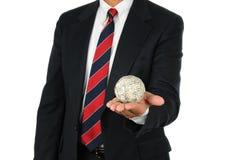 Bille d'argent de fixation d'homme d'affaires photographie stock
