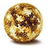 Bille d'or de miroir de disco Photos stock