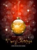 Bille d'or de Noël Photo stock