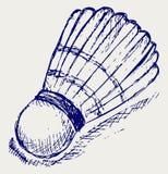 Bille de badminton de croquis Image libre de droits