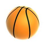 Bille de basket-ball sur le fond blanc Photographie stock
