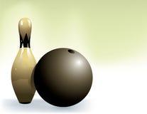 Bille de bowling et broches de bowling Photo libre de droits