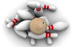 Bille de bowling et skittles illustration de vecteur