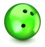Bille de bowling verte Photographie stock libre de droits