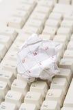 Bille de calendrier et clavier d'ordinateur de papier Images libres de droits