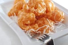 Bille de crevette cuite à la friteuse photographie stock