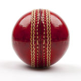 Bille de cricket rouge Photo libre de droits