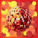 Bille de disco avec le fond Photos stock