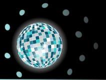 Bille de disco dans des sons verts Image stock