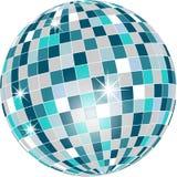 Bille de disco dans des sons verts d'isolement sur le blanc Photo libre de droits