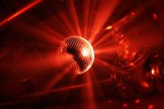 Bille de disco dans le mouvement Images libres de droits