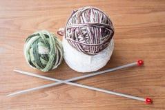 Bille de fil pour le tricotage Photos libres de droits