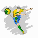 Bille de football Images stock