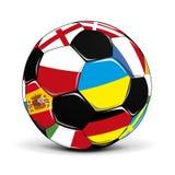 Bille de football avec des indicateurs Photographie stock