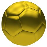 Bille de football d'or Images stock