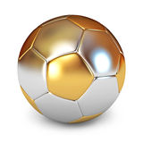 Bille de football d'or Photo stock