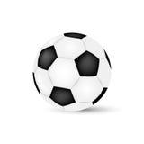 Bille de football d'isolement sur le fond blanc Football illustration stock