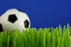 Bille de football dans l'herbe photo stock