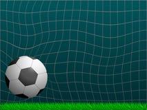 Bille de football dans le but Front View Illustration de vecteur illustration libre de droits