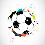 Bille de football grunge colorée abstraite Photos libres de droits
