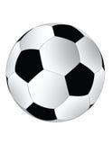 Bille de football noire et blanche Photo stock