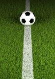 Bille de football sur l'herbe verte Images libres de droits