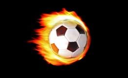 Bille de football sur l'incendie Images libres de droits