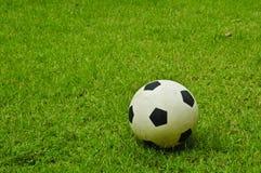 Bille de football sur la pelouse images stock