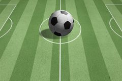 Bille de football sur la zone Image stock