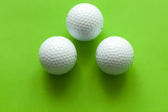 Bille de golf blanche Photos stock