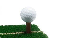 Bille de golf blanche Photos stock