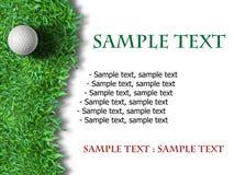 Bille de golf blanche sur l'herbe verte Photographie stock