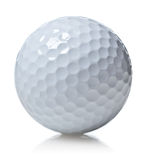 Bille de golf d'isolement sur le blanc Image stock