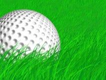 Bille de golf dans le rugueux Photos stock