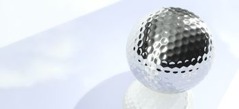 Bille de golf de chrome Photographie stock