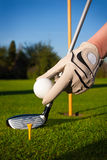 Bille de golf de prise de main photo libre de droits