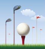 Bille de golf sur le té illustration libre de droits