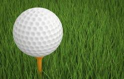 Bille de golf sur le té Images libres de droits