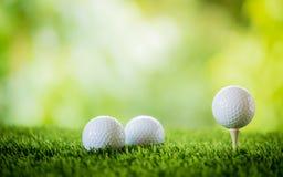 Bille de golf sur le t? photos libres de droits