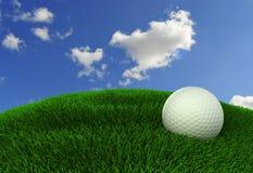 Bille de golf sur le vert illustration de vecteur