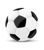 Bille de jeu de football de vecteur d'isolement Images libres de droits